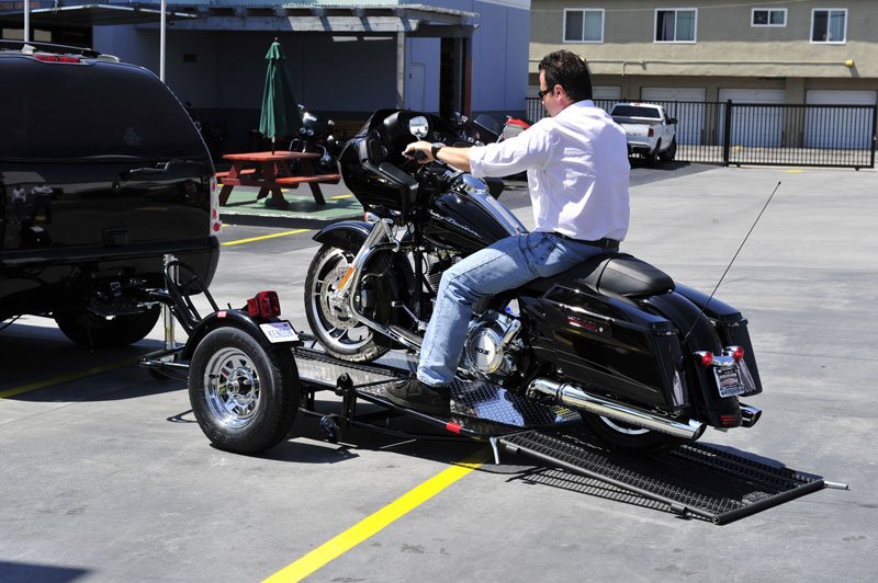 motorcycle trailer trailers single ride stand kendon riding kit srl utility rail harley retrofit enhance experience folding rmm rentals motorcycles
